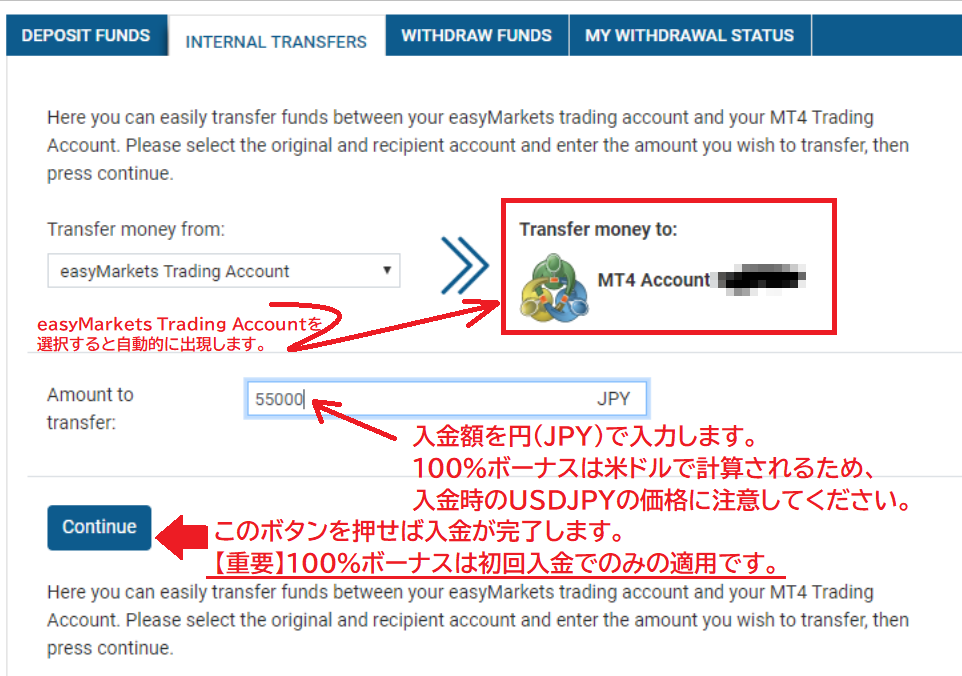 easyMarketsでの入金方法を日本で初解説