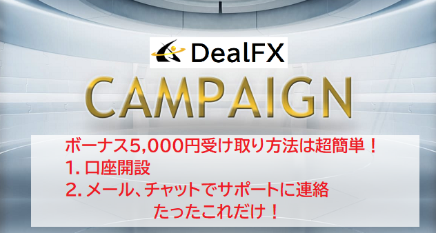 DealFXでボーナスを受取る方法と注意事項