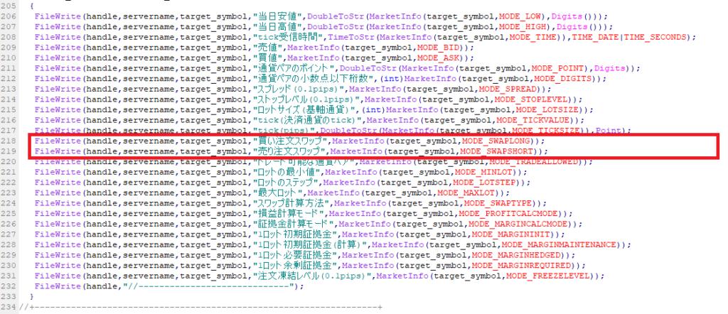mqlのMarketInfo関数の応用例