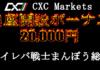 2万円の口座開設ボーナスを提供するCXC Markets