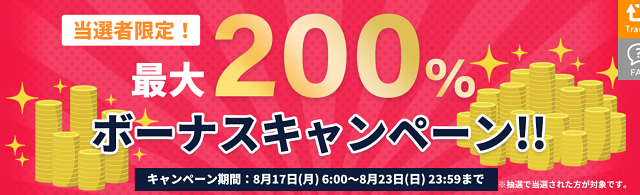 is6comの期間限定200%入金ボーナス