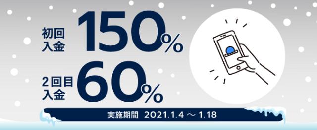 FXGTの2021年1月のキャンペーン